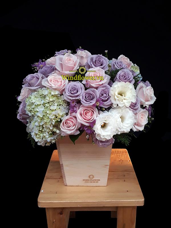 giỏ hoa đẹp, giỏ hoa sinh nhật, giỏ hoa tình yêu