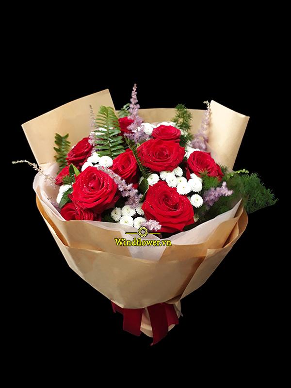 bó hoa đẹp, bó hoa sinh nhật, bó hoa tình yêu