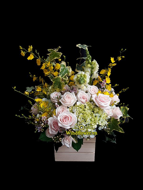 Giỏ hoa đẹp, giỏ hoa sinh nhật