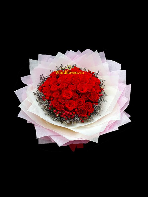 hoa tình yêu, bó hoa hồng, bó hoa sinh nhật